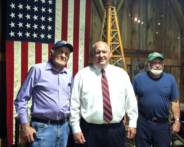 Bill Kline with Congressman Glenn 'GT' Thompson at the Oil Museum in Bradford, PA.